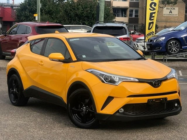 Used Toyota C-HR NGX10R S-CVT 2WD Liverpool, 2018 Toyota C-HR NGX10R S-CVT 2WD Yellow 7 Speed Constant Variable Wagon