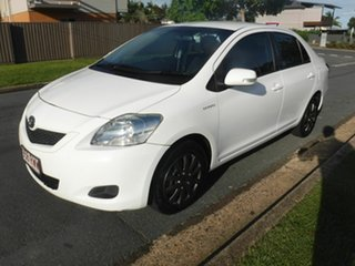 2011 Toyota Yaris NCP93R YRS White 4 Speed Automatic Sedan