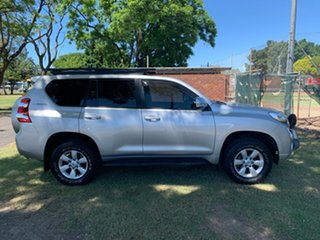 2014 Toyota Landcruiser Prado KDJ150R MY14 GXL Silver Pearl 5 Speed Sports Automatic Wagon.
