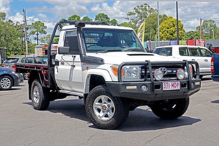 2011 Toyota Landcruiser VDJ79R MY10 GXL White 5 Speed Manual Cab Chassis.