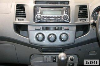 2013 Toyota Hilux KUN26R MY12 SR (4x4) White 5 Speed Manual Dual Cab Pick-up