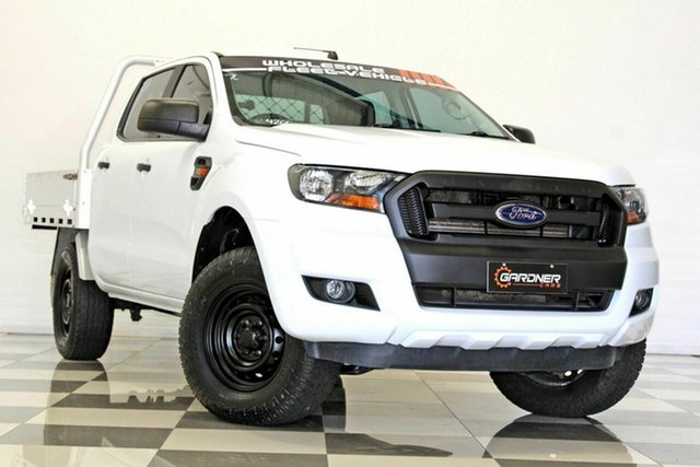 Used Ford Ranger PX MkII MY17 Update XL 2.2 Hi-Rider (4x2) Burleigh Heads, 2017 Ford Ranger PX MkII MY17 Update XL 2.2 Hi-Rider (4x2) White 6 Speed Automatic Crew Cab Chassis