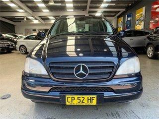 2001 Mercedes-Benz M-Class W163 ML320 Luxury Blue Sports Automatic Wagon.