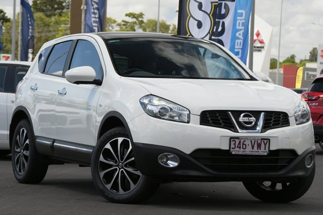 Used Nissan Dualis J10W Series 3 MY12 Ti-L Hatch X-tronic 2WD Aspley, 2012 Nissan Dualis J10W Series 3 MY12 Ti-L Hatch X-tronic 2WD White 6 Speed Constant Variable