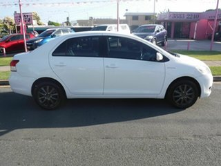 2011 Toyota Yaris NCP93R YRS White 4 Speed Automatic Sedan.