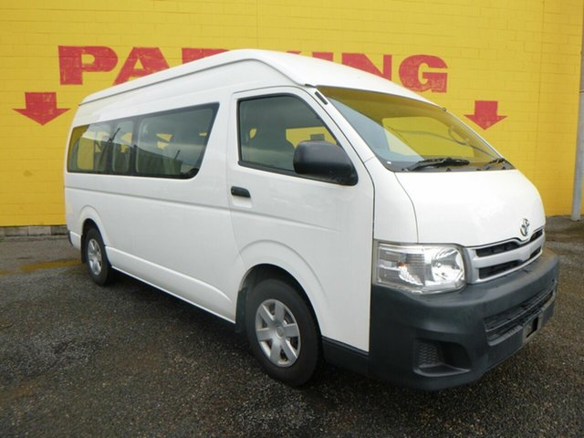 Used Toyota HiAce KDH223R MY12 Commuter High Roof Super LWB Winnellie, 2013 Toyota HiAce KDH223R MY12 Commuter High Roof Super LWB White 4 Speed Automatic Bus