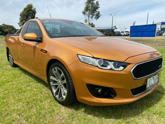Used Ford Falcon FG X XR6 Ute Super Cab Melton, 2015 Ford Falcon FG X XR6 Ute Super Cab Gold 6 Speed Sports Automatic Utility
