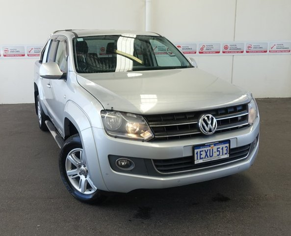 Pre-Owned Volkswagen Amarok 2H MY14 TDI400 Highline (4x4) Rockingham, 2014 Volkswagen Amarok 2H MY14 TDI400 Highline (4x4) Silver 6 Speed Manual Dual Cab Utility