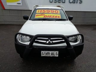 2011 Mitsubishi Triton MN MY11 GLX White 5 Speed Manual Cab Chassis.