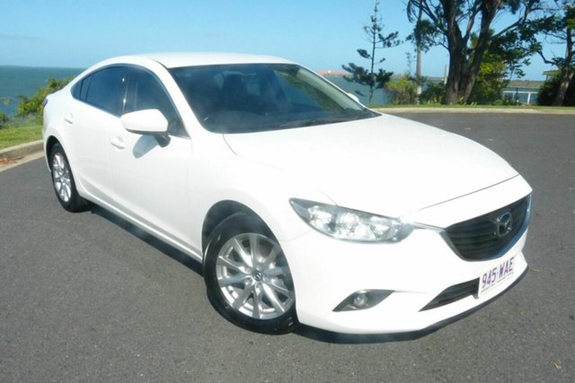 Used Mazda 6 GJ1032 Sport SKYACTIV-Drive Gladstone, 2015 Mazda 6 GJ1032 Sport SKYACTIV-Drive White 6 Speed Sports Automatic Sedan