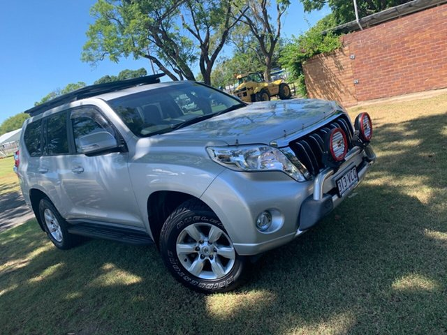 Pre-Owned Toyota Landcruiser Prado KDJ150R MY14 GXL Moree, 2014 Toyota Landcruiser Prado KDJ150R MY14 GXL Silver Pearl 5 Speed Sports Automatic Wagon
