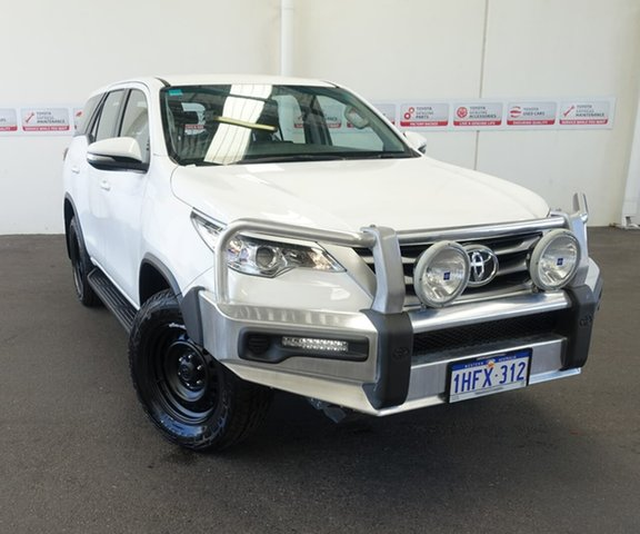 Pre-Owned Toyota Fortuner GUN156R GX Myaree, 2016 Toyota Fortuner GUN156R GX Glacier White 6 Speed Automatic Wagon