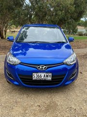 2012 Hyundai i20 PB MY12 Active Sparkle Blue/ 5 Speed Manual Hatchback.