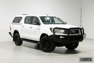 2017 Toyota Hilux GUN126R MY17 SR (4x4) White 6 Speed Manual Dual Cab Utility.
