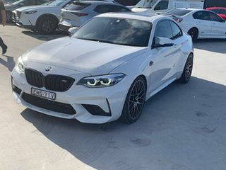 2018 BMW M2 F87 LCI Competition M-DCT Pure White 7 Speed Sports Automatic Dual Clutch Coupe