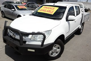 2015 Holden Colorado RG MY15 LS Crew Cab 4x2 White 6 Speed Manual Cab Chassis.