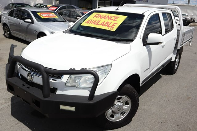 Used Holden Colorado RG MY15 LS Crew Cab 4x2 Moorooka, 2015 Holden Colorado RG MY15 LS Crew Cab 4x2 White 6 Speed Manual Cab Chassis