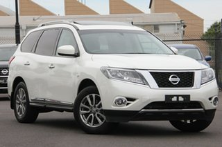 2016 Nissan Pathfinder R52 Series II MY17 ST-L X-tronic 4WD Diamond White 1 Speed Constant Variable.