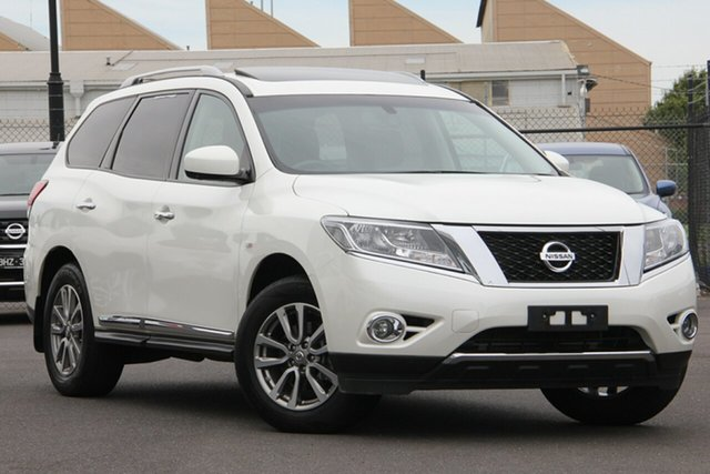 Used Nissan Pathfinder R52 Series II MY17 ST-L X-tronic 4WD Essendon Fields, 2016 Nissan Pathfinder R52 Series II MY17 ST-L X-tronic 4WD Diamond White 1 Speed Constant Variable