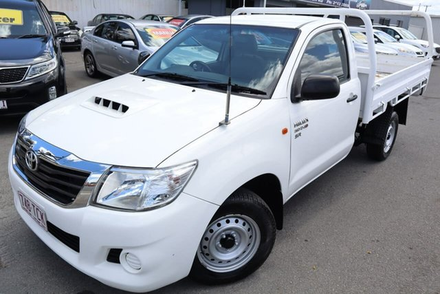 Used Toyota Hilux KUN16R MY12 SR 4x2 Moorooka, 2013 Toyota Hilux KUN16R MY12 SR 4x2 5 Speed Manual Cab Chassis