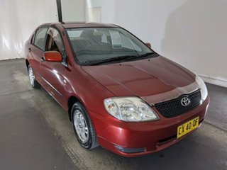 2002 Toyota Corolla ZZE122R Ascent Red 4 Speed Automatic Sedan.