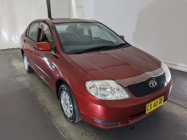 Used Toyota Corolla ZZE122R Ascent Maryville, 2002 Toyota Corolla ZZE122R Ascent Red 4 Speed Automatic Sedan