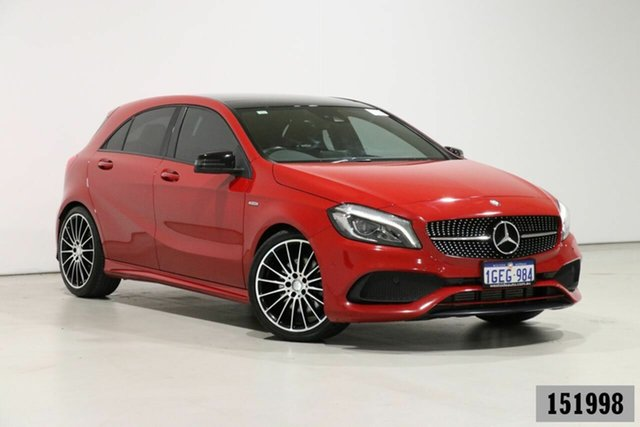 Used Mercedes-Benz A250 176 MY17 Sport Bentley, 2017 Mercedes-Benz A250 176 MY17 Sport Red 7 Speed Automatic Hatchback