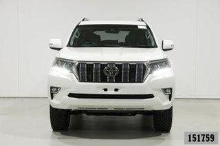 2018 Toyota Landcruiser Prado GDJ150R MY18 VX (4x4) Pearl White 6 Speed Automatic Wagon.