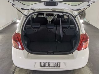 2008 Toyota Yaris NCP91R YRS White 5 Speed Manual Hatchback