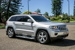2012 Jeep Grand Cherokee WK MY2012 Overland Bright Silver Metallic 5 Speed Sports Automatic Wagon.