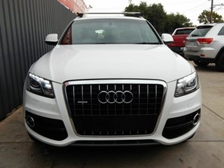 2012 Audi Q5 8R MY12 TDI S Tronic Quattro White 7 Speed Sports Automatic Dual Clutch Wagon.