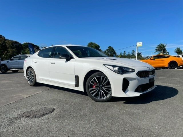 Used Kia Stinger CK MY19 330S Fastback Gympie, 2018 Kia Stinger CK MY19 330S Fastback White 8 Speed Sports Automatic Sedan