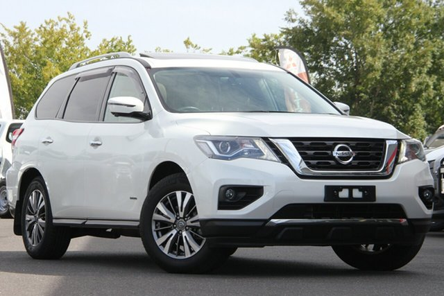 Used Nissan Pathfinder R52 Series II MY17 ST-L X-tronic 4WD Essendon Fields, 2018 Nissan Pathfinder R52 Series II MY17 ST-L X-tronic 4WD Diamond White 1 Speed Constant Variable