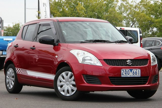 Used Suzuki Swift FZ GA Essendon Fields, 2013 Suzuki Swift FZ GA Red 5 Speed Manual Hatchback