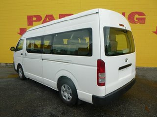 2013 Toyota HiAce KDH223R MY12 Commuter High Roof Super LWB White 4 Speed Automatic Bus