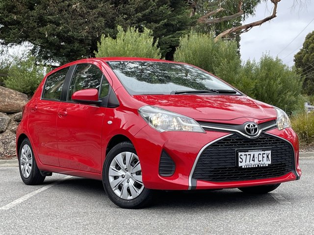 Used Toyota Yaris NCP130R Ascent Totness, 2016 Toyota Yaris NCP130R Ascent Red 4 Speed Automatic Hatchback