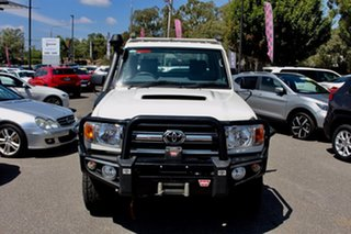 2016 Toyota Landcruiser VDJ79R GXL White 5 Speed Manual Cab Chassis