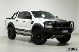 2015 Ford Ranger PX MkII XL 3.2 (4x4) White 6 Speed Manual Crew Cab Utility.