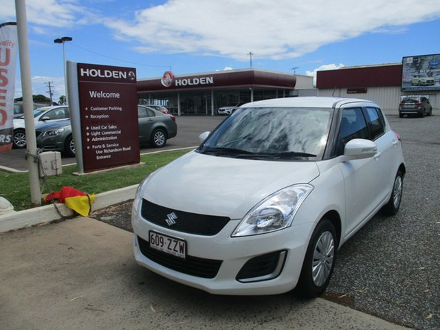 Used Suzuki Swift FZ MY15 GL North Rockhampton, 2016 Suzuki Swift FZ MY15 GL White 5 Speed Manual Hatchback