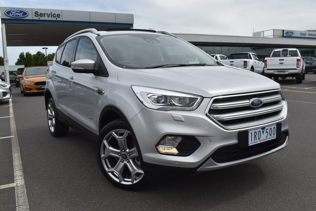 Used Ford Escape ZG 2019.75MY Titanium Essendon Fields, 2019 Ford Escape ZG 2019.75MY Titanium Silver 6 Speed Sports Automatic Dual Clutch SUV