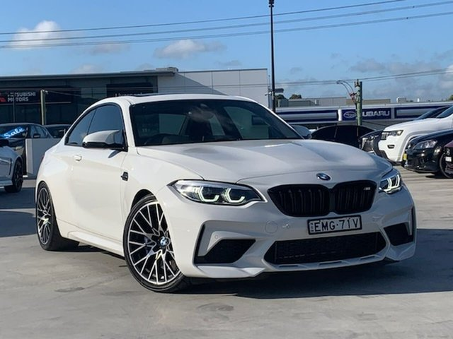 Used BMW M2 F87 LCI Competition M-DCT Pure Liverpool, 2018 BMW M2 F87 LCI Competition M-DCT Pure White 7 Speed Sports Automatic Dual Clutch Coupe