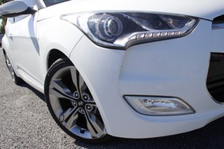 2013 Hyundai Veloster FS2 + Coupe Crystal White 6 Speed Manual Hatchback.