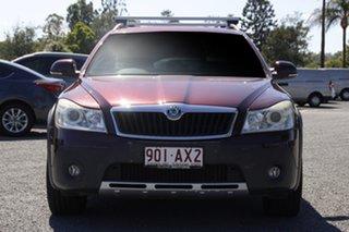 2011 Skoda Octavia 1Z MY11 Scout Premium DSG 103TDI Red/Black 6 Speed Sports Automatic Dual Clutch