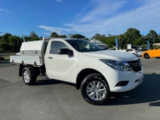 2015 Mazda BT-50 UR0YF1 XT 4x2 Hi-Rider White 6 Speed Manual Cab Chassis.