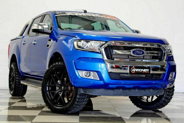 Used Ford Ranger PX MkII MY18 XLT 3.2 (4x4) (5 Yr) Burleigh Heads, 2018 Ford Ranger PX MkII MY18 XLT 3.2 (4x4) (5 Yr) Blue 6 Speed Automatic Double Cab Pick Up