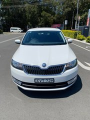 2014 Skoda Rapid NH MY14 Ambition Spaceback DSG White 7 Speed Sports Automatic Dual Clutch Hatchback
