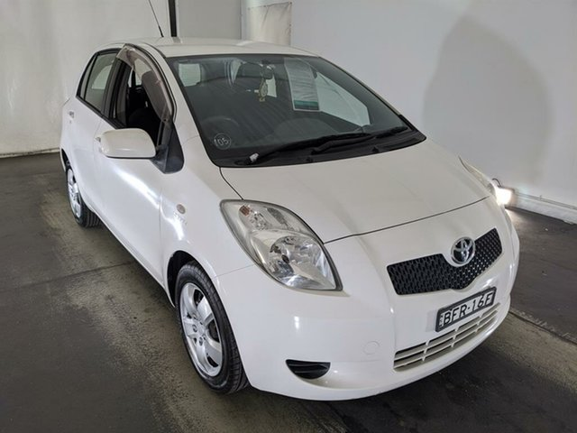 Used Toyota Yaris NCP91R YRS Maryville, 2008 Toyota Yaris NCP91R YRS White 5 Speed Manual Hatchback