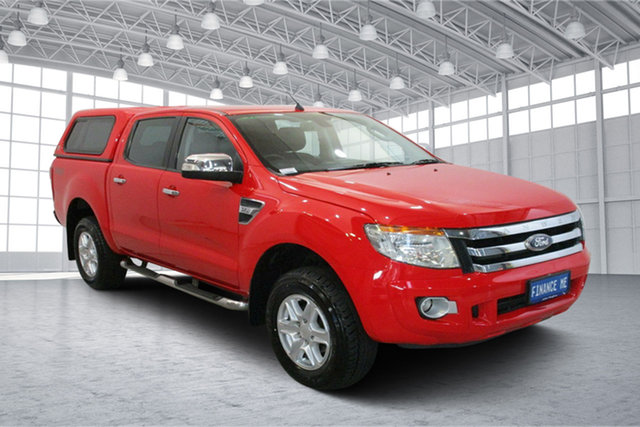 Used Ford Ranger PX XLT Double Cab Victoria Park, 2013 Ford Ranger PX XLT Double Cab True Red 6 Speed Sports Automatic Utility