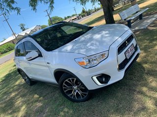 2016 Mitsubishi ASX XB MY15.5 XLS 2WD Starlight Pearl 6 Speed Constant Variable Wagon.