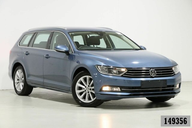 Used Volkswagen Passat 3C MY18 132 TSI Comfortline Bentley, 2018 Volkswagen Passat 3C MY18 132 TSI Comfortline Harvard Blue 7 Speed Auto Direct Shift Wagon